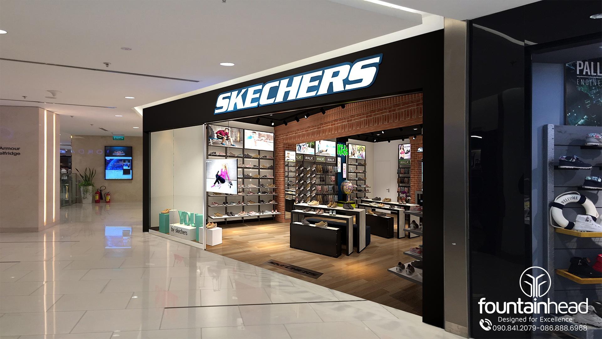 thiết kế nội thất shop giày cao cấp