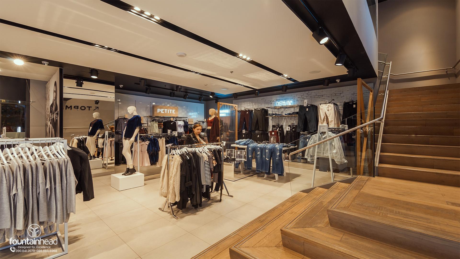 thiết kế showrom trung tâm thương mại